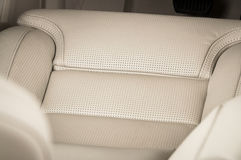 Leather car seats. Stock Photo