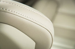 Leather car seats. Royalty Free Stock Photography