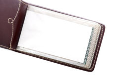 Leather card holder Stock Image
