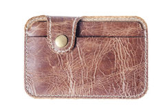 Leather card holder Stock Images