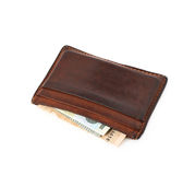Leather card holder wallet isolated Royalty Free Stock Photo
