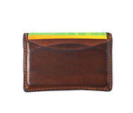 Leather card holder wallet isolated Royalty Free Stock Photos