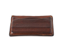 Leather card holder wallet isolated Stock Photo