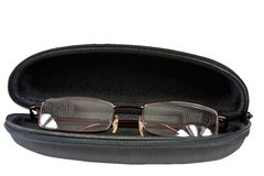 Leather Case for glasses Stock Image