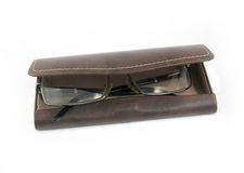 Leather Case for glasses Royalty Free Stock Photos