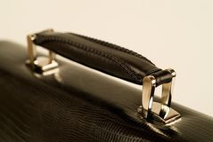 Leather case handle Royalty Free Stock Image