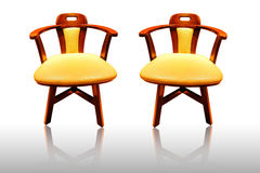 Leather chair Stock Images