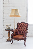 Leather chair Royalty Free Stock Images