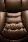 Leather chair close-up Stock Photography