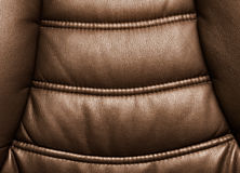 Leather chair close-up Stock Photo