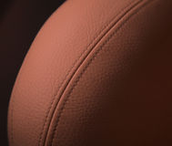Leather chair detail Stock Image