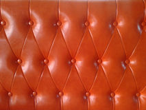 Leather chair upholstered seat Royalty Free Stock Photography