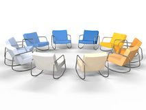Leather Chairs Royalty Free Stock Photos