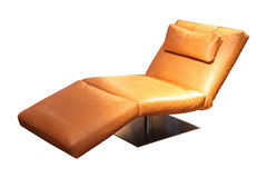 Leather chaise longue. Isolated included clipping path stock photography