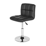 Leather and chrome bar stool Royalty Free Stock Images