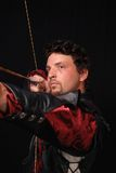 Leather Clad Archer Stock Photography