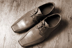 Leather classic style  shoes Stock Images