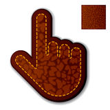 Leather click hand cursor Stock Image