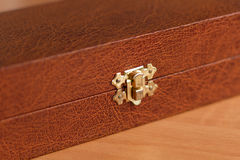 Leather closed box Stock Images