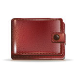 Leather closed wallet Stock Photos