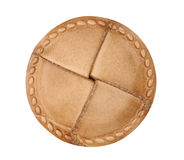 Leather clothes button Royalty Free Stock Image