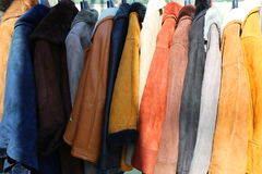 Leather clothes fur Royalty Free Stock Photos