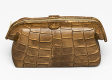 Leather clutch Stock Image