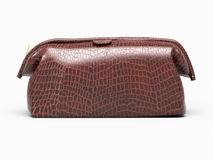 Leather clutch isolated Royalty Free Stock Photography