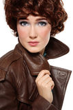Leather coat Royalty Free Stock Photos