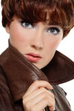 Leather coat Stock Photo