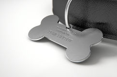Leather Collar With Tag Royalty Free Stock Photography
