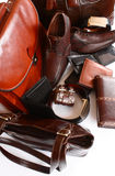 Leather Collection Royalty Free Stock Photography