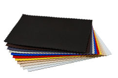 Leather color samples Stock Photos