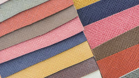 Leather color swatch Royalty Free Stock Photo