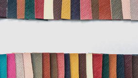 Leather color swatch Royalty Free Stock Photography