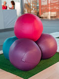 Leather Colorful Fitness Ball Royalty Free Stock Photography