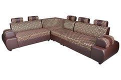 Leather corner sofa Royalty Free Stock Photography