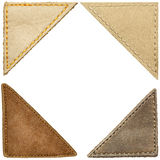 Leather corners Royalty Free Stock Image