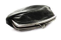 Leather cosmetic bag Royalty Free Stock Images