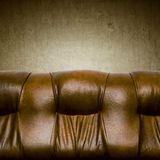 Leather couch Stock Images