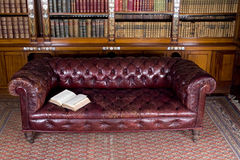 Leather couch Royalty Free Stock Photo