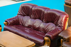 Leather couch Stock Photography