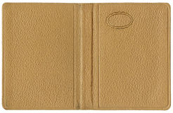 Leather cover Beige Stock Photos