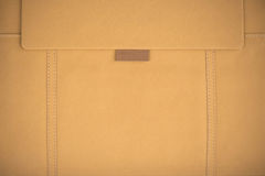 Leather cover. Folder yellow Leather cover background royalty free stock photo