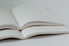 Leather Cover Notebook Open On White Background. Royalty Free Stock Image