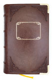 Leather cover of an old book.  Stock Images