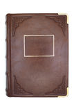 Leather cover of an old book.  Stock Photo