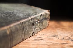 Leather covered bible Stock Photo