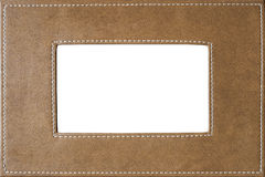 Leather covered picture frame stitched on side texture. With space for your text. Useful as background or texture for design Royalty Free Stock Photos