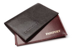 Leather covers for passport Royalty Free Stock Photography